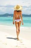 Girl on a beach Stock Photo