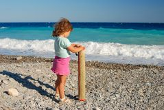A girl on the beach. Stock Photo