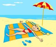 Girl on a beach. Stock Photography