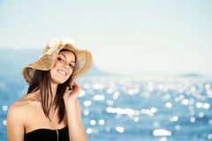 Girl in beach Royalty Free Stock Images