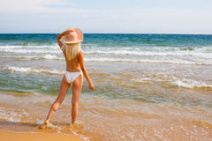 girl beach Stock Photos