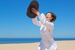 The girl on the beach. Stock Photography