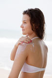Girl on a beach Royalty Free Stock Photography