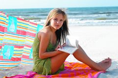 Girl and beach Royalty Free Stock Photo