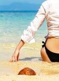 Girl on beach. Girl on the tropical beach Stock Photos