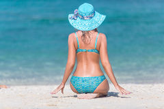 Girl beach Stock Photography