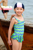 Girl in beach Royalty Free Stock Image