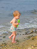 Girl and beach Royalty Free Stock Image