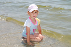 Girl on beach Stock Photography
