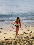 Girl on beach. Young girl on beach Royalty Free Stock Photo
