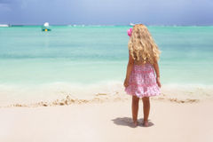Girl at the beach Royalty Free Stock Images