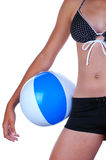 Girl with Beach Ball Royalty Free Stock Images