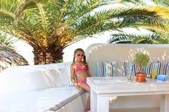 Girl in the Beach bar Stock Photography