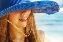 Girl on a beach. Beautiful sexy girl on a beach Stock Photo