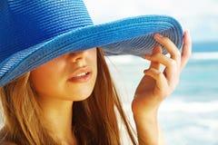Girl on a beach. Beautiful sexy girl on a beach Stock Photos