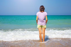Girl on the beach. Royalty Free Stock Image
