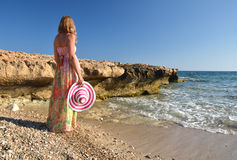 Girl on the beach. Stock Image