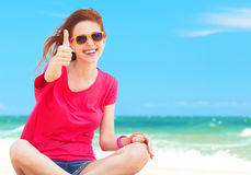 Girl at the beach. Royalty Free Stock Image
