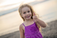 Girl at the beach having great time Royalty Free Stock Photo