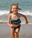 Girl on beach in Hawaii Royalty Free Stock Photos