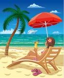 Girl on beach Royalty Free Stock Image