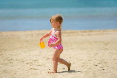Girl on the beach Stock Photos