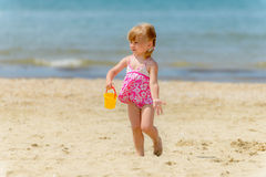 Girl on the beach Stock Photo
