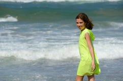 Girl on beach Stock Photos