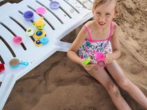 Girl at the beach Stock Photography