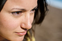 Girl on the beach Portrait close up Stock Photo