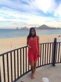 Girl in beach resort Royalty Free Stock Photography