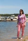 Girl on the beach Royalty Free Stock Photos