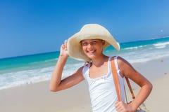 Girl on the beach Stock Photography