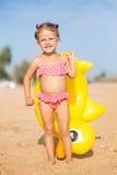 A girl on the beach Stock Photography