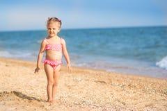 A girl on the beach Royalty Free Stock Photos