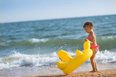 A girl on the beach Royalty Free Stock Photography