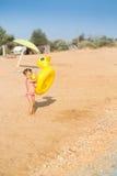 A girl on the beach Stock Photo