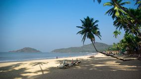 Tropical beach of Palolem, Goa, India Stock Image