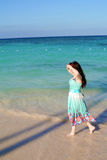 Girl on the beach Royalty Free Stock Photo