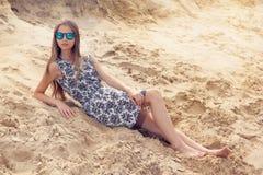 Girl on the beach. Royalty Free Stock Photos