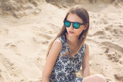 Girl on the beach. Royalty Free Stock Photography