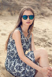 Girl on the beach. Royalty Free Stock Images