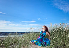 Girl on a beach Royalty Free Stock Photo