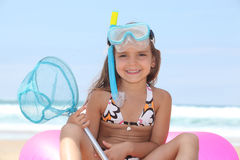 Girl on the beach Royalty Free Stock Photos