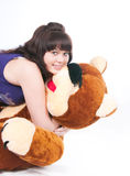 The girl and bear Royalty Free Stock Photos