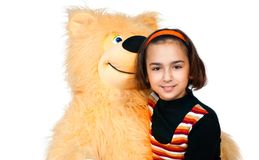 Girl with bear Royalty Free Stock Image