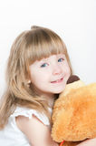 The girl and bear Royalty Free Stock Photography