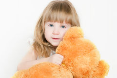 The girl and bear Royalty Free Stock Photo