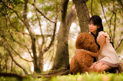 Girl with the bear Royalty Free Stock Image