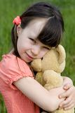 Girl with bear Stock Photo